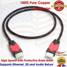 Premium Gold Plated HDMI to HDMI Cable 1080p, PS3, Blu-Ray DVD, Xbox 360, 3 Feet