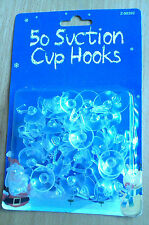 50 suction cups with plastic hooks for windows decorations christmas lights