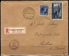 Luxembourg 1937 mixed franked R-Service cover