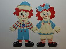 RAGGEDY ANN & ANDY  Paper Dolls Set /CRICUT / Die Cut / SCRAPBOOK EMBELLISHMENT