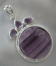 Suppry & Amethyst Stylish Pendant Sterling Silver NEW COLLECTION, LIMITED STOCK!