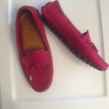MERCANTI FIORENTINI Womens 8.5B Hot Pink Leather Driving Mocs Moccasins Loafers