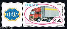 ITALIA 1 FRANCOBOLLO MACCHINA AUTOTRENO IVECO AUTO APP. 1984 nuovo**