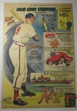 ENOS SLAUGHTER ST LOUIS CARDINAL 1949 SUNDAY COMIC BASEBALL FEATURE