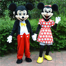 Hot Mickey Mouse and Minnie Mascot Costume Adult Size Fancy Dress Halloween