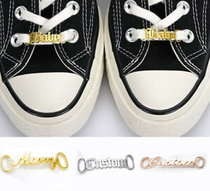 Personalized Custom Name Stainless Steel Nameplate Shoe Buckle Female Jewelry