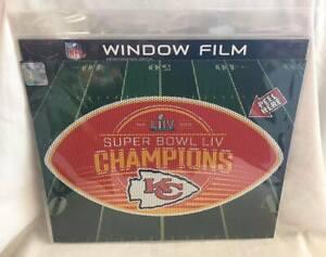 Kansas City Chiefs Super Bowl 54 Champion Perforated see thru decal window film