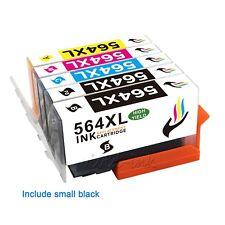 5PK Ink Cartridge 564XL 564 Set +Chip For HP Officejet 4620 Photosmart 7520 7510