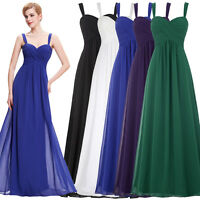 Long Dress Bridesmaid Formal Evening Cocktail Prom Party Ball Wedding Gown AU#