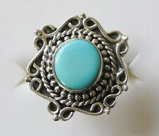 Sleeping Beauty Turquoise Artisan Ring in 925 Sterling Silver size 6