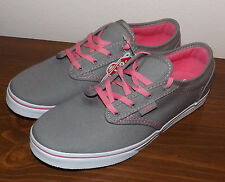VANS ATWOOD LIGHT GRAY/PINK BRAND NEW YOUTH MISSY SIZE 5.0 LOW PRICE