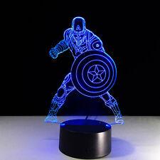 Night Light Lamp Acrylic Marvel Captain America The Avengers Christmas Home Hot