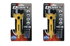 [2 Pack] Dorcy 41-2510 - Waterproof, LED Flashlight, 55 Lumens, Yellow.