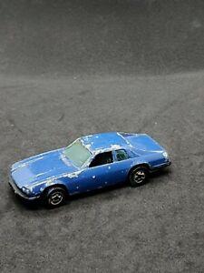 Hot Wheels Vintage Blue Jaguar XJS Die-Cast Vehicle Mattel 1977 1:64 Scale