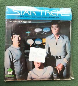 Star Trek Time Stealer To Starve Fleaver 45 RPM 2 Records SEALED NOS Peter Pan