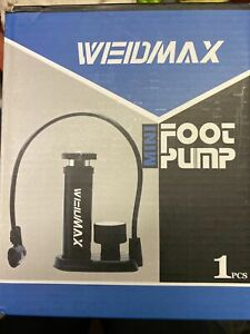 NEW weidmax mini foot pump 12 bar/ 170 psi bicycle motorbike sports balls etc