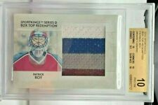 Patrick Roy 2010 SportKings Box Top Redemption Jumbo 4 color GU Patch /10 BGS 10