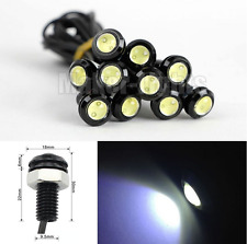 10Pcs Eagle Eye COB LED White Car Daytime Running DRL Tail/Head Light Backup 12V