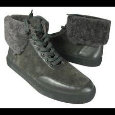 NEW Via Spiga Maia Sneakers, Grey Suede, Shearling Cuff,  Women Size 6, $149