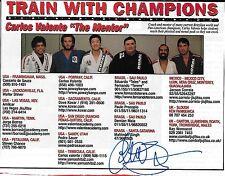 Carlos Valente Signed 5x6.5 Magazine Ad Photo UFC Pride BJJ Jiu-Jitsu Autograph