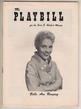 """Judy Holliday  """"Bells Are Ringing""""   Playbill  1956  Bob Fosse,  Sydney Chaplin"""