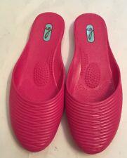 OKABASHI OKA-B Women's Mules Size M 7-8 Pink Flat Closed Toe Slippers NEW