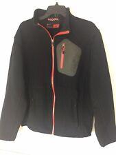 Spyder XL Black Mens Jacket Fleece Lined  Full Zip Knit Jacket Red Zipper