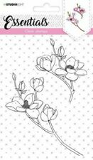 Studio Light Essentials A6 Clear Stamps - Magnolia - Flowers - Cardmaking