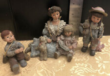 Sarah'S Attic - Mom With 3 Little Children - 1 Boy And 2 Girls - Three Piece Lot