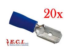 Faston maschio 6,3mm AWG 12-10 CONF 10 pezzi