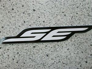 SE Racing BMX sticker / decal white on black pk ripper quadangle