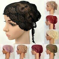 Women Muslim Inner Cap Lace Hijab Head Cover Scarf Islamic Headwear Bonnet Hat