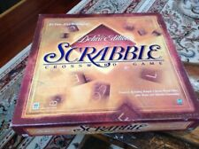 Scrabble Deluxe 1999 Edition Turntable Burgundy Letters Complete