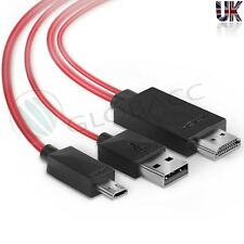 2M MHL Mobile Phone Cable Smartphone Micro USB to HDMI TV AV Cable Adapter 11pi