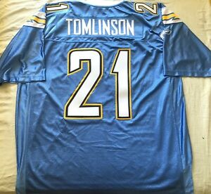 LaDainian Tomlinson Chargers authentic Reebok powder blue triple stitched jersey
