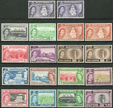 Montserrat 1953 QEII complete set of mint stamps value to $4.80 Lightly Hinged