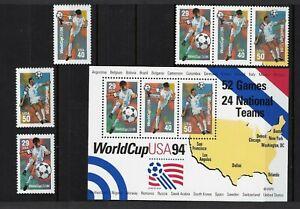 Briefmarken Fußball Weltmeisterschaft 1994 USA diverse Ausführungen