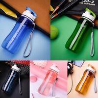 New Water Bottle Drink Bottle with Leak Proof Lid Flip Up Sports School Gym HQYL