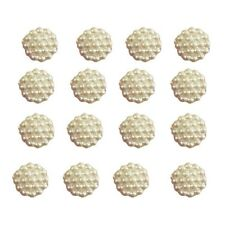 100x10mm Cream Flat Back Flower Resin Pearls Craft Wedding Scrapbook Gems 258133