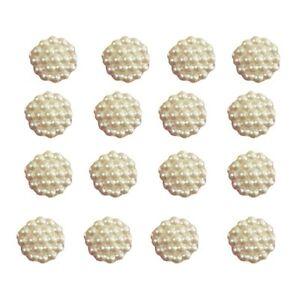100x10mm Cream Flat Back Flower Resin Pearls Craft Wedding Scrapbook Gems 258133