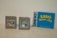 KIRBY'S DREAMLAND 1 + 2 _  KIRBY _ NINTENDO GAMEBOY GAME BOY _ 2 GAMES