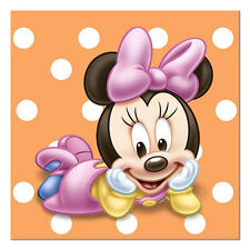 MINNIE MOUSE 1st BIRTHDAY SMALL NAPKINS (16) ~ First Party Supplies Beverage