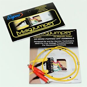 Supco MAG1RD 30 Vac Magnetic Test Leads Jumper Wire Magjumper Red