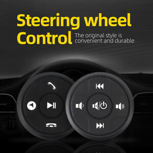 Wireless Car Steering Wheel Button Radio Remote Control Stereo DVD GPS Round ABS