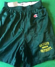 NWT NCAA CHAMPION BAYLOR UNIVERSITY BEARS MESH SHORTS - GREEN - LARGE ( 14-16)