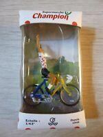 NOREV  cycliste 1/43  rouge point blanc Supermarché Champion Tour de France