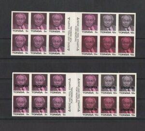 Tonga 1987  Coronation King Taufa`ahau Tupoi 1V x 2 Booklets inc Specimen MNH