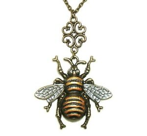 BUMBLEBEE NECKLACE Pendant The Queen Honey Bee