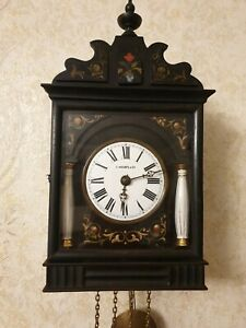 Very Rare Tsarist Russian MOSER in MOSCOW Cuckoo Clock .Wooden Plates  Movement