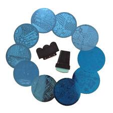 10 Pcs Nail Art Vernis Tampon Stamping Plaques Pochoir Métal Image Stamp Scraper